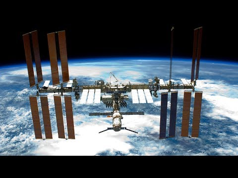 NASA/ESA International Space Station ISS Live Earth View With Tracking Data - 55