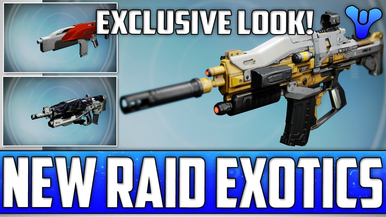 new raid adept weapon showcase! 14 exclusive images - destiny age