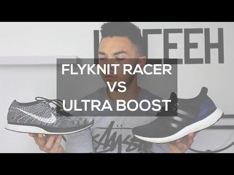 Duel 2 Sneakers : Flyknit Racer vs Ultra Boost
