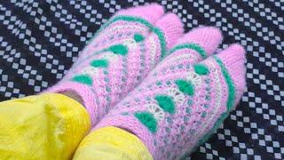 Most popular Ladies Thumbs Socks in very-very easy steps.छह और सात नं:पैर के लिए#587*#21.