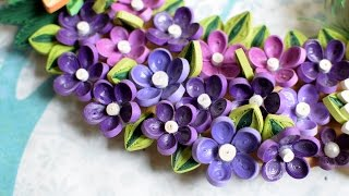 Quilled flower Wreath Part 2: Quilled leaves/ Handmade leaf