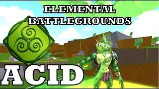 Roblox Elementare Schlachtfelder Neuer Zauber: ACID