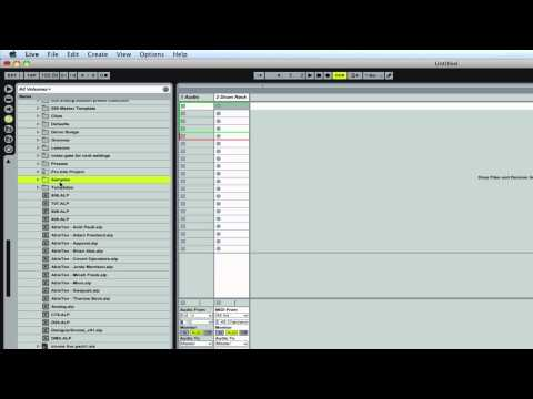 organizing files in Ableton | Ableton Tutorial | How to Organize Files in Ableton Live