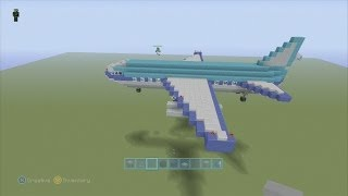 Repeat youtube video SPANKLECHANK'S Minecraft Tutorials: How to make a PASSENGER PLANE