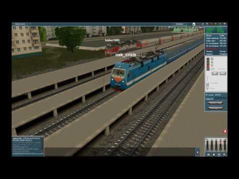 Trainz-MP: Неофициальный мультиплеер 12.01.2016. Электровоз ЭП1П-055. Карта Узловая