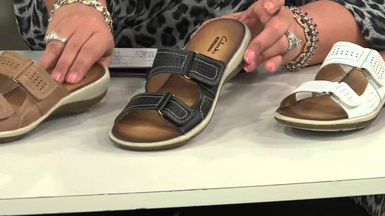 e36c8ccbb0d Clarks Double Strap Leather Sandals - Taline Pop with Antonella Nester
