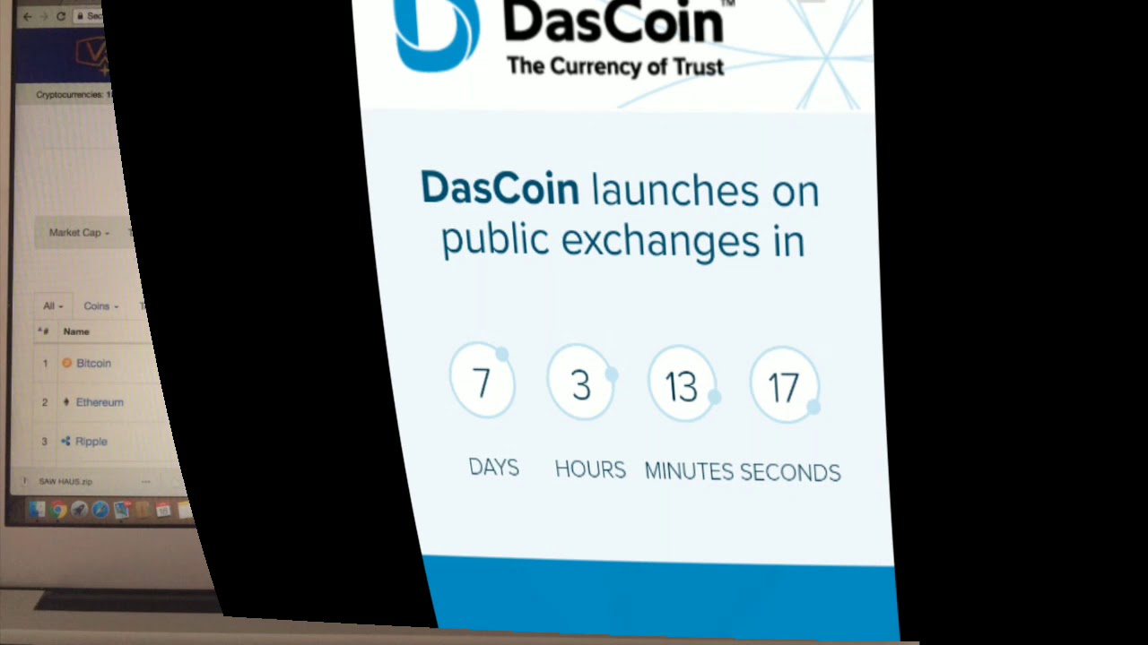 6aaf0bd59f1 DasCoin Launch Public Exchanges List On CoinMarketCap 27 April 2018 Join  Today Bonus And More