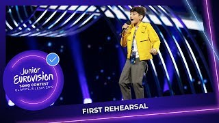 Georgi rostiashvili will represent georgia at the junior eurovision song contest 2019 with we need love. this was his first rehearsal on stage i...