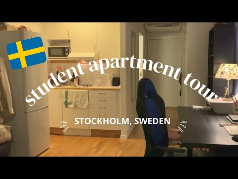 Student apartment tour in Stockholm, Sweden | 24sqm | 5400 SEK (640USD) | idyllic insu