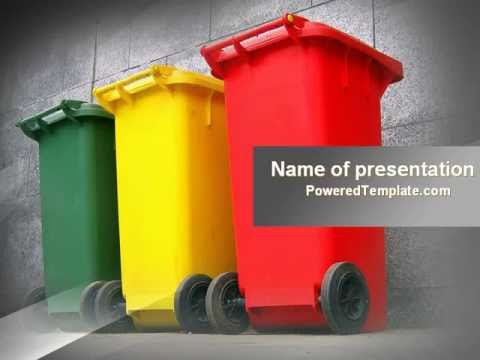 Waste Management Powerpoint Template By Poweredtemplate.Com - Youtube