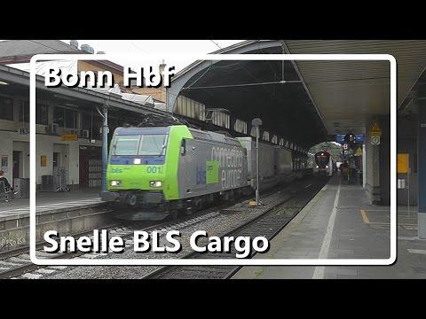 Snelle BLS Cargo komt door station Bonn Hbf!