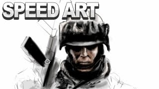 Battlefield 3 Speed Art by TheConceptPainter