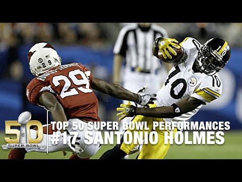 #17: Santonio Holmes Super Bowl XLIII Highlights | Steelers vs. Cardinals | Top 50 SB Performances
