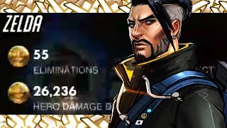 55 ELIMS! BEST HANZO IN THE WORLD - WRAXU! [ OVERWATCH SEASON 17 TOP 500 ]