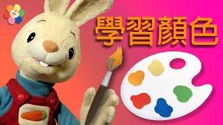 儿童版识颜色 | 幼儿版与兔子哈利一起识颜色 | BabyFirst