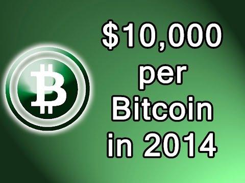 Bitcoin will reach $10,000 USD in 2014