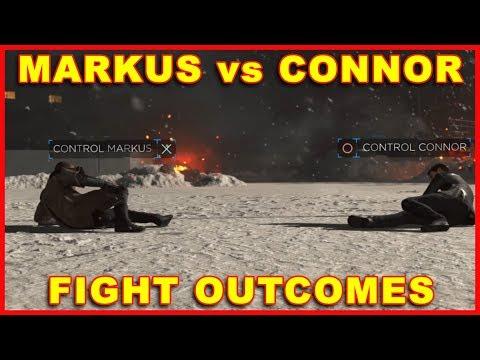 Detroit Become Human: Markus vs Connor Fight Outcomes