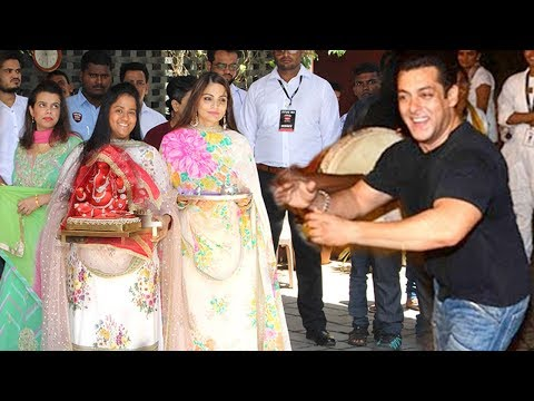 Salman Khan's Family Ganpati GRAND Welcome At Sisters Arpita & Alvira Khan's House In Bandra Mp3