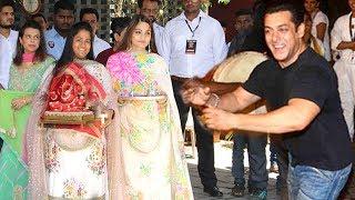 Salman Khan's Family Ganpati GRAND Welcome At Sisters Arpita & Alvira Khan's House In Bandra