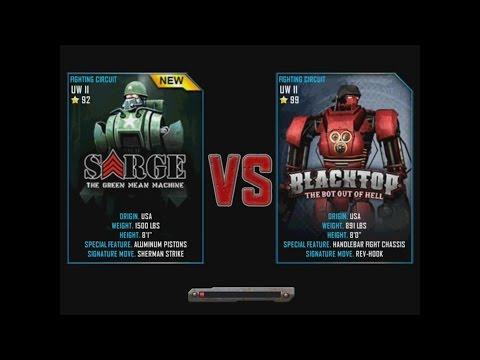 Real Steel WRB Sarge VS Blacktop NEW ROBOT Update Halloween