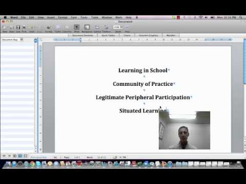Community of Practice Oral Lecture