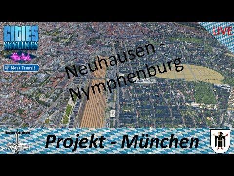Cities Skylines ● Ausbau in Nymphenburg - #Stream Projekt München/Munich (Deutsch/German) gameplay