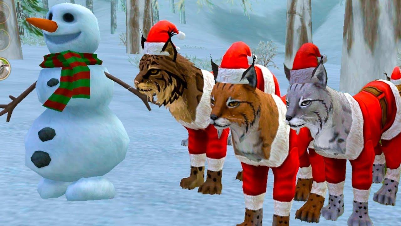 ОРЛЫ и РЫСИ в Симуляторе ПИТОМЦА wildcraft #16 Новогоднее обновление. Кид и дикие звери