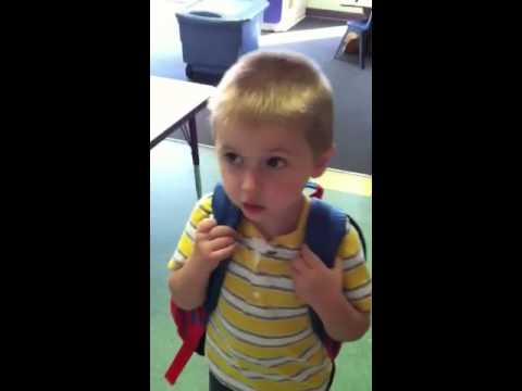 Treys first day of pre k