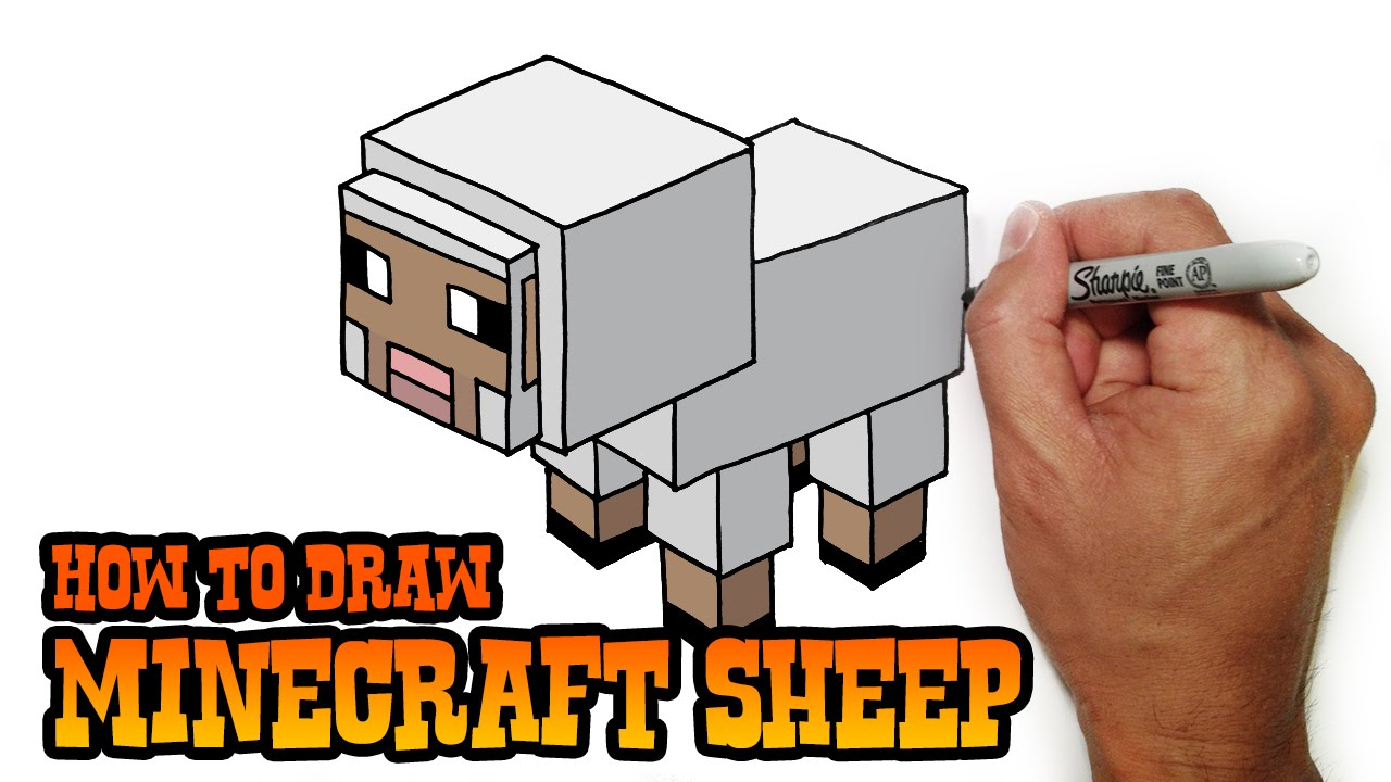 How To Draw Minecraft Sheep 2d Perspective Video Lesson