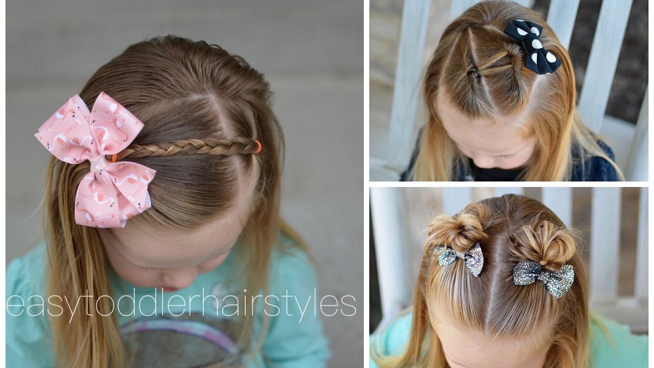 Hair Styles For Toddlers 3 Quick And Easy Toddler Hairstyles For Beginners  Youtube