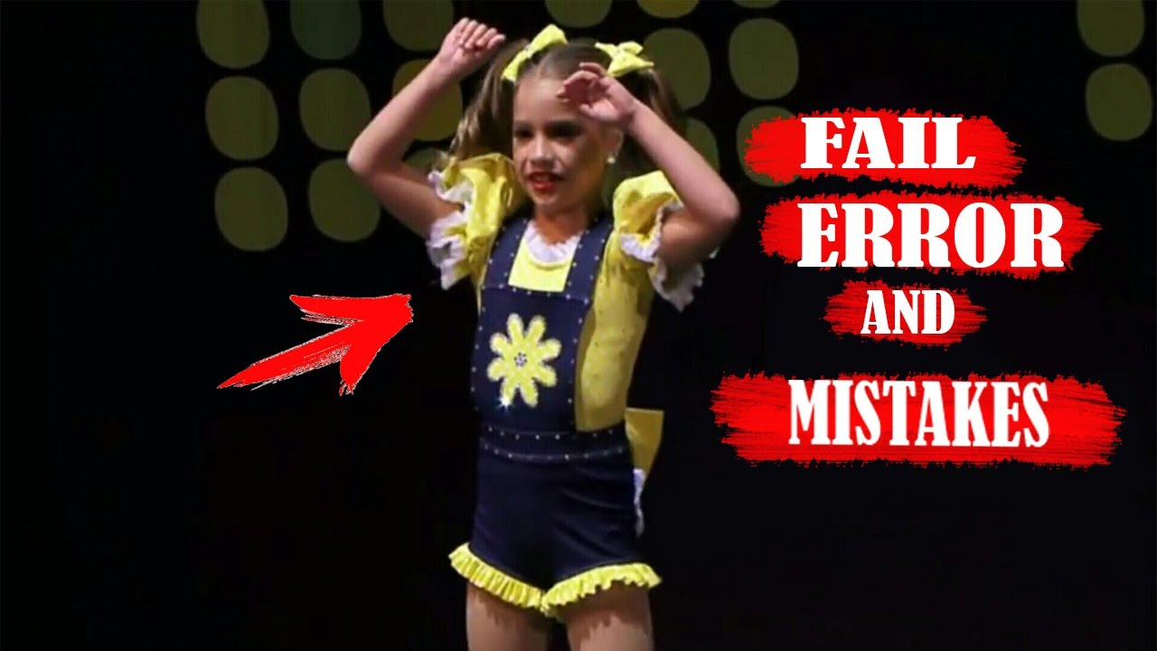 Dance Moms: Mistakes,Fail,Problems and Errors