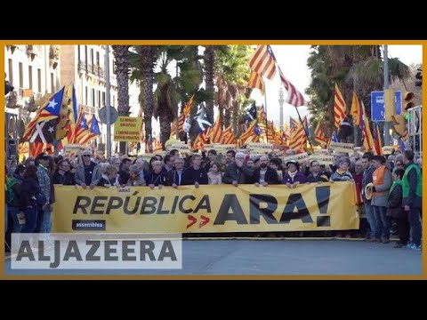 🇪🇸 'Our struggle is peaceful': Catalonia 'Republic Now' march draws thousands | Al Jazeera English