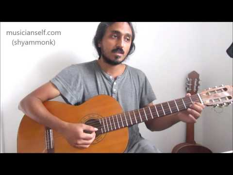 How to Guitar Akale Neelakasham: Raga Charukeshi Swaras Slides Moves (Singers, Instrumentalists)