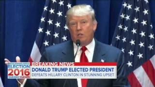 Donald Trump Elected President - Good Morning America  | 9 November 2016 | 7AM ET
