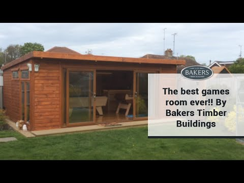 the best games room ever!!bakers timber buildings - youtube