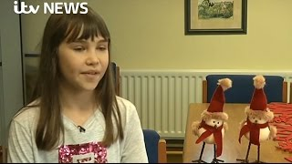 "Schoolgirl's ""Hallelujah"" by Leonard Cohen heard around the world - ITV News 22-12-2016"