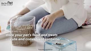 Felli Pet Flip-Tite Storage Containers