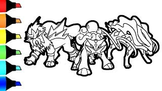 Entei Raikou and Suicune Pokemon coloring pages I Colouring with Copic markers