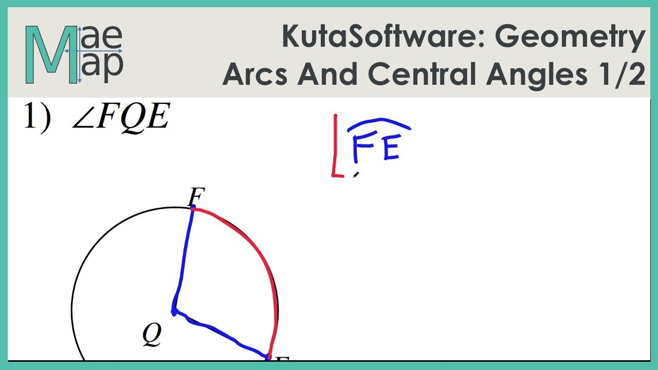 KutaSoftware: Geometry- Arcs And Central Angles Part 1 - YouTube