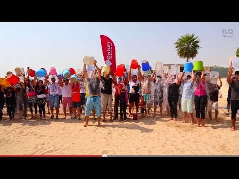 Doha Qatar ALS Ice Bucket Challenge - We challenge three cities! (Eco-friendly)