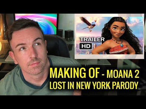 Making The Trailer - Moana Lost In New York Parody - Episode 10
