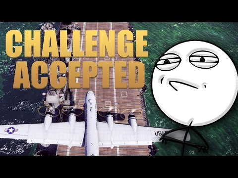 War Thunder Challenge Accepted | Land a B-29 On a Carrier