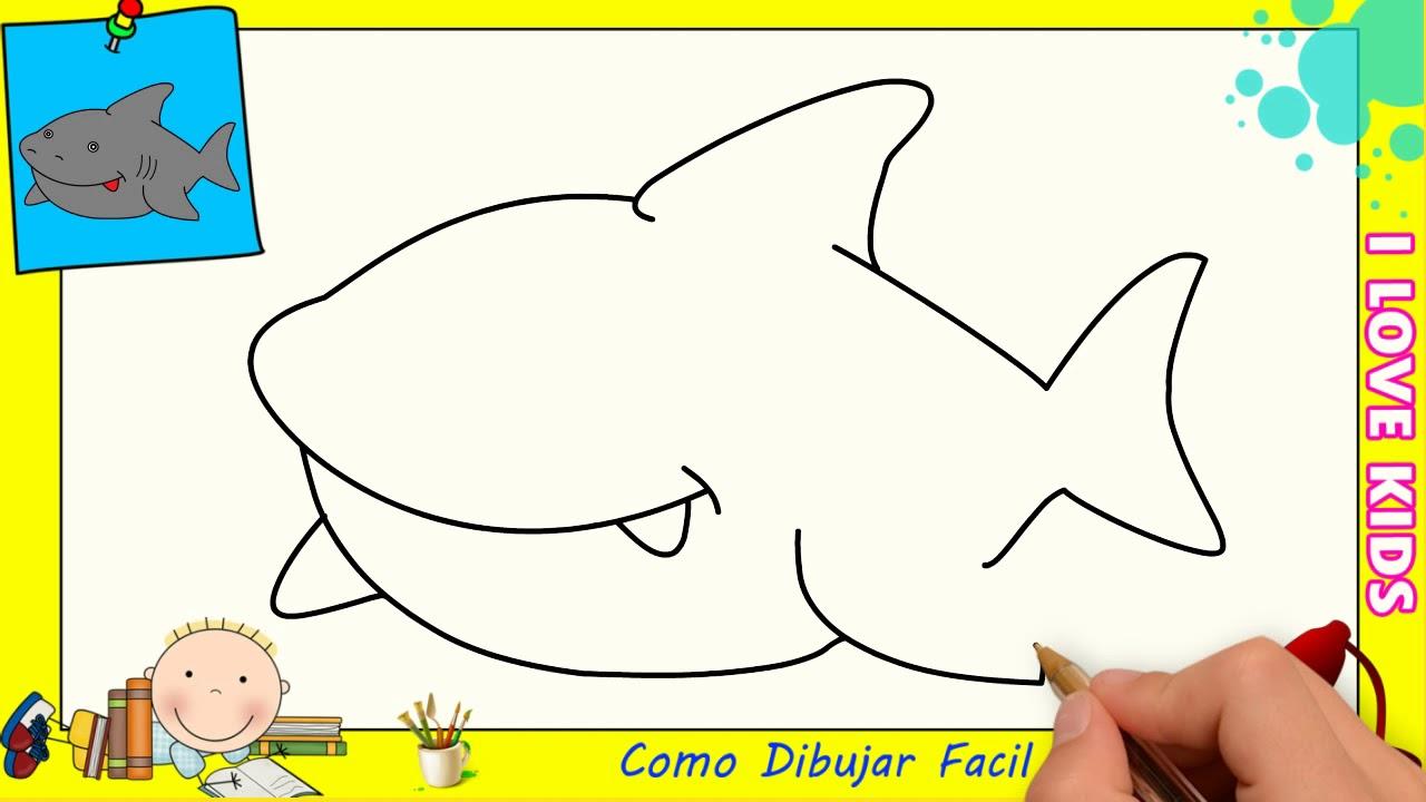 Imagenes De Niños Para Colorear Animados: Dibujos Animados De Tiburones Para Colorear