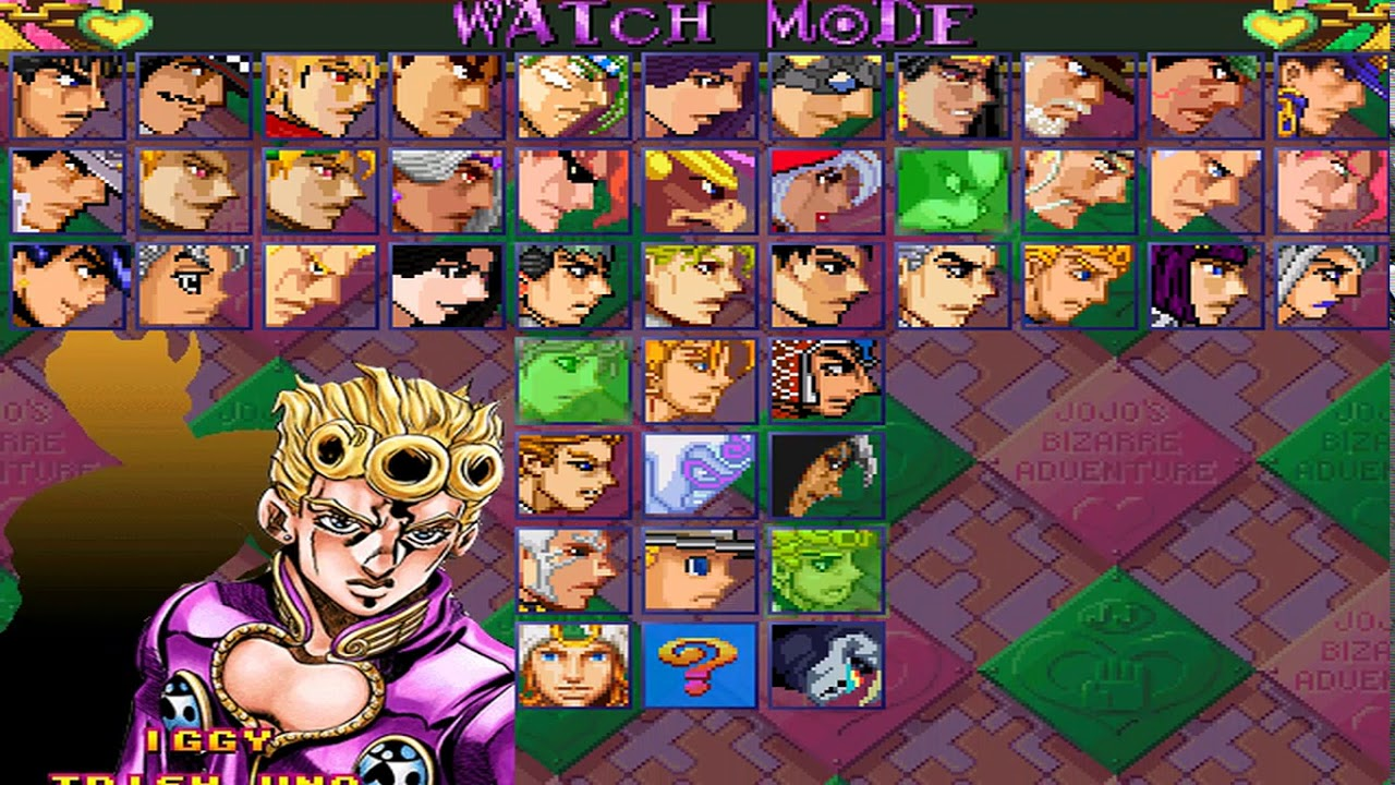 [MUGEN GAME] Jojo's Bizarre Adventure by Iver Stone
