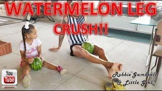 WATERMELON LEG CRUSH!! Not easy at all LOL