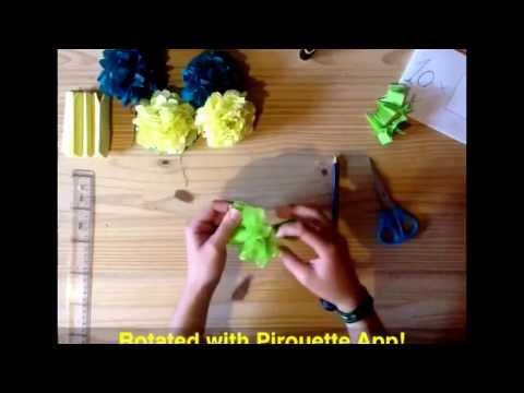 DIY Paper Roses. Papel de Seda