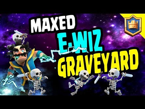 DESTROY THE LADDER! MAXED EWIZ - GRAVEYARD! King Chest Opening! - Clash Royale