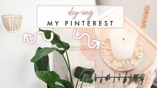 Diy'ing My Pinterest Board   Home Decor And Diys