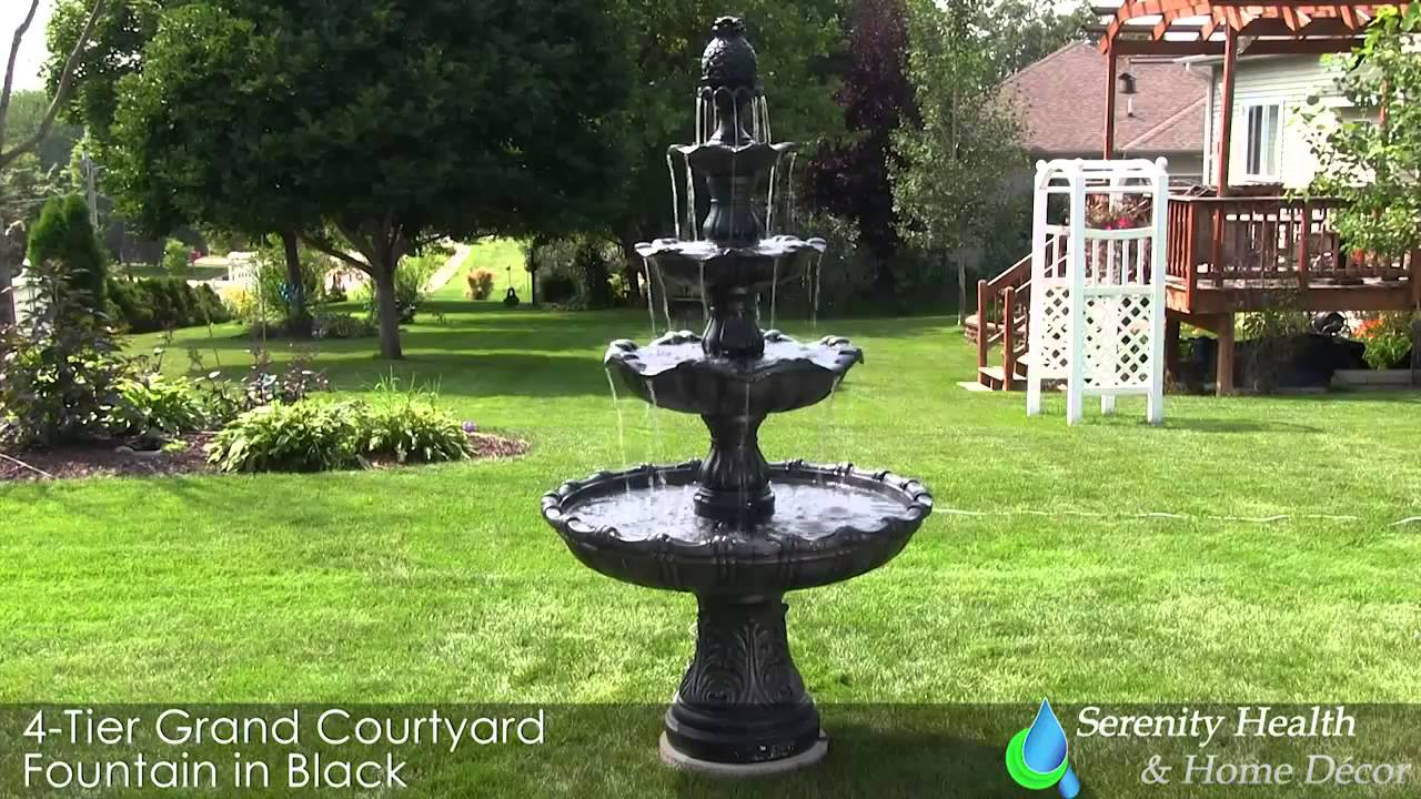 Outdoor Floor Fountain Landscape Garden Water Feature Courtyard Fountains Video Review You