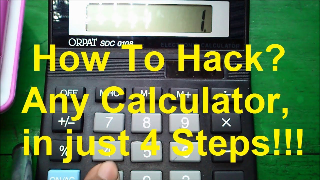 How To Hack Any Calculator in 4 Steps! - Just For Fun!